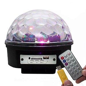 Lampada LED Globo 18w RGB Bola Maluca Bivolt com Música para Festa