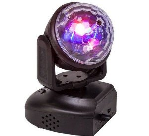 Mini Refletor Holofote LED Moving Head RGB Bola Maluca para Festa