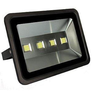 Refletor Holofote LED 200w Branco Quente Preto
