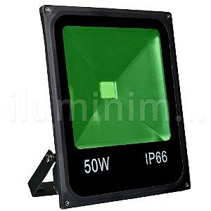 Refletor Holofote LED 50w Verde Preto