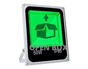 Refletor Holofote LED 50w Verde - Open Box