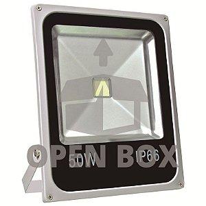 Refletor Holofote LED 50w Branco Quente - Open Box