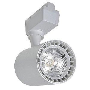 Spot LED 10W Branco Neutro para Trilho Eletrificado Branco
