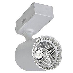 Spot LED 18W Branco Quente para Trilho Eletrificado Branco