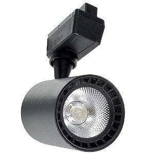 Spot LED 24W Branco Frio para Trilho Eletrificado Preto