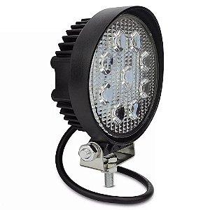 Farol de Milha LED Redondo 27W Auxiliar Automotivo