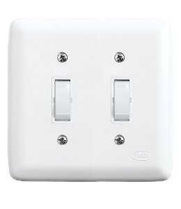 Conjunto 2 Interruptores Simples 10A 250V Branco