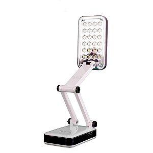Luminária De Mesa 24 LEDS Abajur Dobrável Bivolt Recarregável