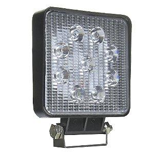 Farol de Milha LED Quadrado 27W Auxiliar Automotivo