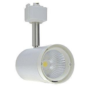 Spot LED 12W Branco Quente para Trilho Eletrificado Branco