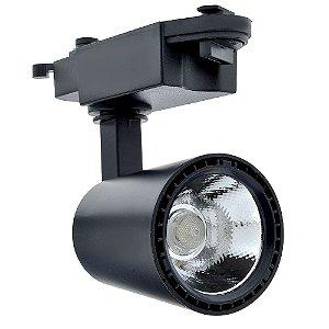 Spot LED 7W Branco Frio para Trilho Eletrificado Preto
