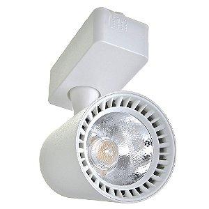 Spot LED 7W Branco Frio para Trilho Eletrificado Branco