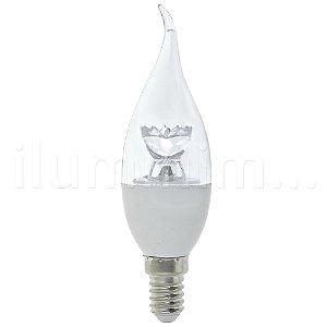 Lâmpada Vela Cristal LED 3w Com Bico Branco Quente | Inmetro