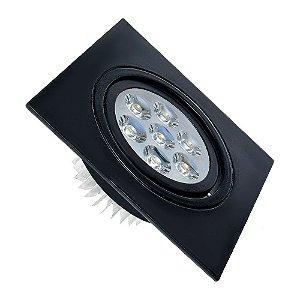 Spot 3W Dicróica LED Direcionavel Base Preta