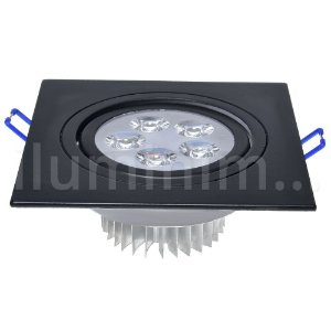 Spot 5W Dicróica LED Direcionavel Base Preta