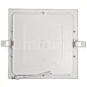 Luminária Plafon 25w LED Embutir Branco Frio Preto