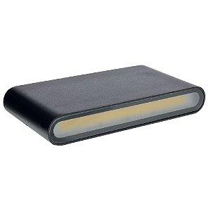 Luminária Arandela LED 12W Branco Quente Externa - Preta