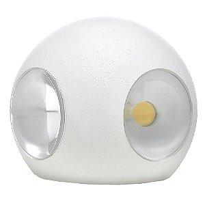 Luminária Arandela LED 12W Redonda Externa Branco Quente Branca