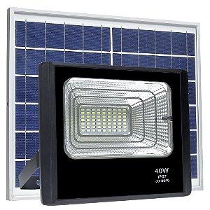 Refletor LED Solar 40w 22 Leds Auto Recarregável