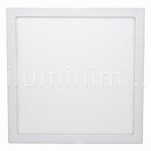 Luminária Plafon 30x30 32W LED Embutir Branco Frio
