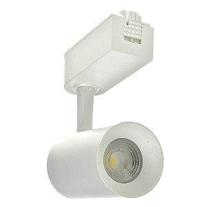 Spot LED 7W Branco Neutro para Trilho Eletrificado Branco