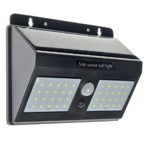 Luminaria Solar LED Sensor de Movimento 40 Leds 12w