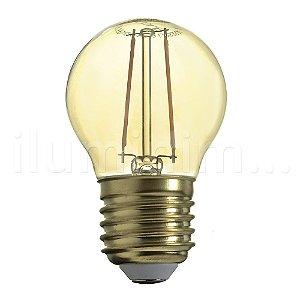 Lampada LED Bolinha 4W Vintage Carbon Branco Quente | Inmetro