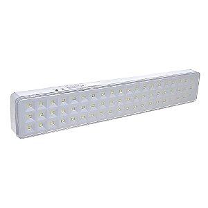 Luminária de Emergência 60 LEDs | Slim