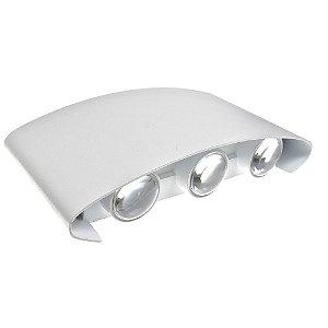 Luminária Arandela LED 18W Branco Quente Externa Branca