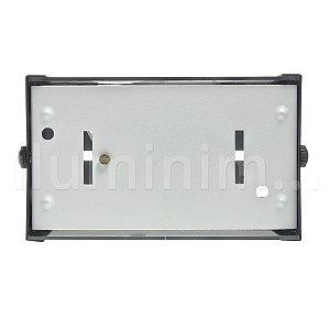 Luminária Arandela Frisada LED 3W Branco Quente Preta