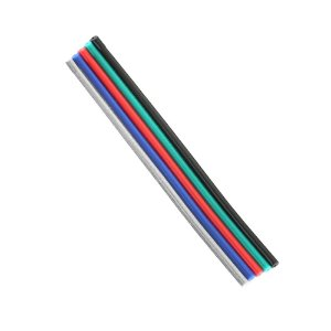 Cabo Extensor de Fio para Fita LED RGB 5 metros 5 Vias