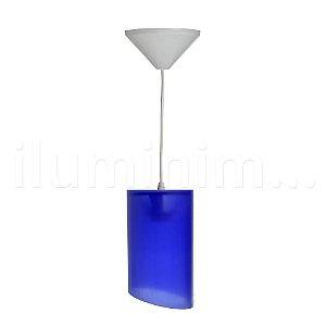 Pendente Cilíndrico Azul
