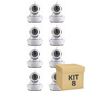 Kit 8 Câmera Segurança de LED IP Infravermelho 720p HD Wireless Wifi Audio