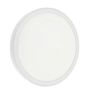 Luminária Plafon 36w LED Sobrepor Branco Neutro