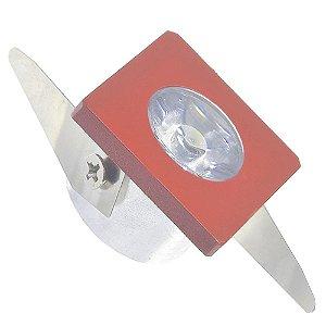 Spot LED COB 1W Quadrado Embutir Vermelho