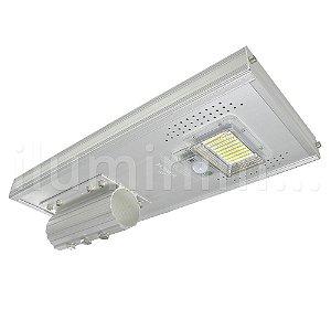 Luminária Pública Solar LED 50w Branco Frio com Sensor