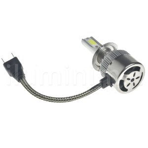 Kit Farol LED C6 H7 Automotivo com Cooler 6500K