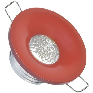 Mini Spot LED COB 3W Embutir Redondo Vermelho