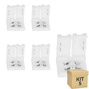 Kit 5 Emenda rápida para fita LED 3528 1 cor - 8mm
