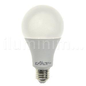 Lâmpada Bulbo LED A60 20W Bivolt Branca - Amarela | Inmetro