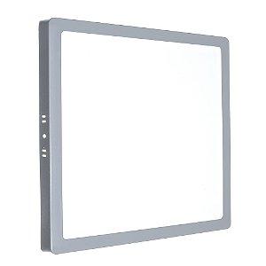 Luminária Plafon 25w LED Sobrepor Branco Frio Cinza