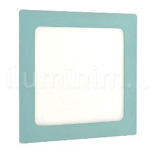 Luminária Plafon LED 12W Embutir Branco Frio Verde