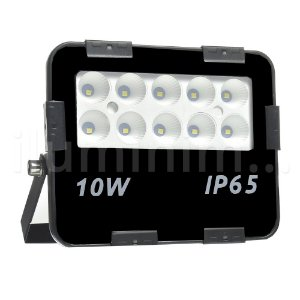 Refletor Holofote MicroLED 10W Multifocal Branco Frio Preto
