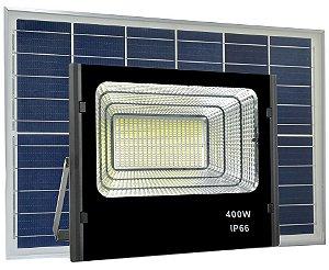 Refletor LED Solar 400W 80 Leds Auto Recarregável