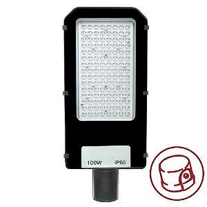 Luminária Pública Ultra LED SMD 100w Branco Frio Fotoeletrico