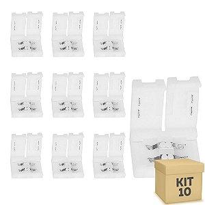 Kit 10 Emenda rápida para fita LED 3528 1 cor - 8mm