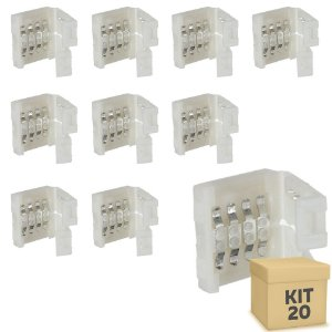 Kit 20 Emenda rápida para fita LED 3528 RGB - 10mm