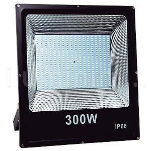 Refletor Holofote MicroLED SMD Slim 300W Branco Quente