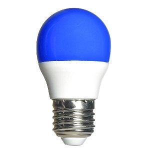 Lâmpada LED Bolinha 3w Azul | Inmetro