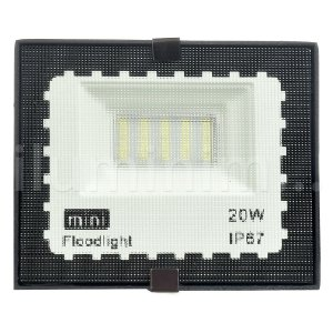 Kit 10 Mini Refletor Holofote LED SMD 20W Branco Frio IP67